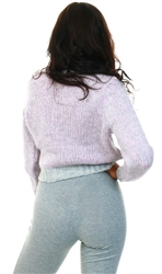 Only Purple / Elderberry High Neck Knitted Pullover