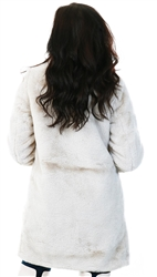 Veromoda Grey / Oatmeal Faux Fur Jacket