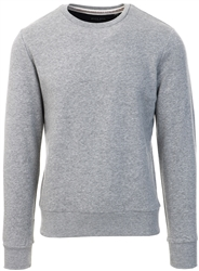 Brave Soul Light Grey Marl Crew Sweat