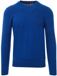 Superdry Bright Marine Grindle Orange Label Crew Jumper