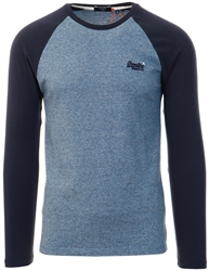 Superdry Azure Tois Mega Grit Organic Cotton Baseball Top