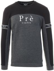 Black/Charcoal Marl Eclipse Sweat by Pre London
