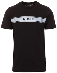 Nicce Black Axiom Reflective T-Shirt