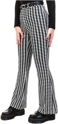 Vila Black / Houndstooth Flared Trousers