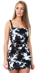 Daisy St Tie Dye Velvet Mini Dress