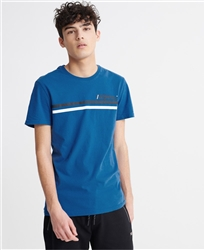Superdry True Blue Core Logo Sport Stripe T-Shirt