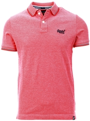 Superdry Rouge Red Twist Poolside Pique Polo Shirt