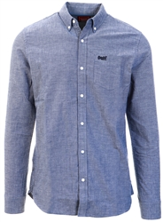Superdry French Blue Classic University Oxford Long Sleeve Shirt