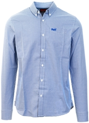Superdry Manor Gingham Royal Classic London Long Sleeve Shirt