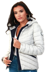 Superdry Grey Marl Essentials Helio Padded Jacket