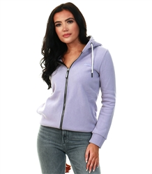 Superdry Dusty Lilac Orange Label Elite Zip Hoodie