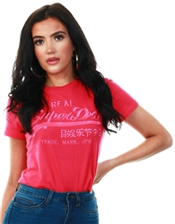 Superdry Magenta Vintage Logo Tonal Embroidery T-Shirt
