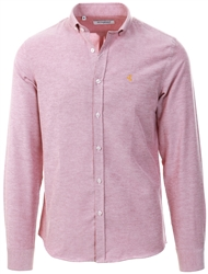 Ottomoda Red Long Sleeve Oxford Shirt