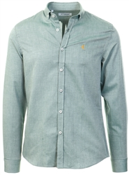 Ottomoda Green Long Sleeve Oxford Shirt