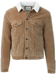 Jack & Jones Beige / Kelp Corduroy Denim Jacket