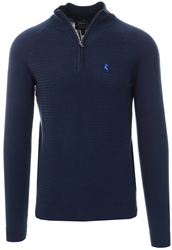 Blue Depths Half Zip Knitted Sweater by Holmes & Co