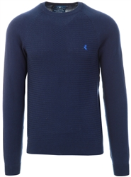 Blue Depths Round Neck Knitted Sweater by Holmes & Co