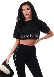 Gym King Black Sport Taped Tee