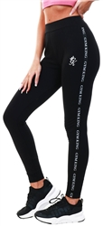 Gym King Black Taped Legging