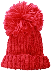 Brave Soul Hot Pink Ribbed Beanie
