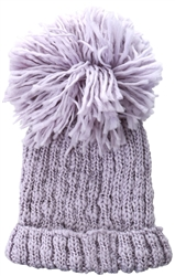 Brave Soul Lilac Ribbed Beanie