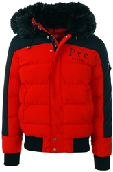 Pre London Red/Black Kylo Fur Bomber Parka