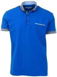Ottomoda Blue Short Sleeve Polo Shirt
