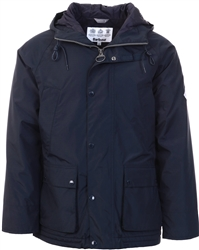 Barbour Beacon Navy Hooded Bedale Jacket
