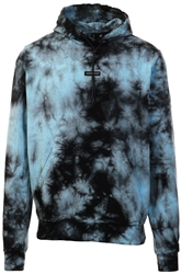 Goodfornothing Blue / Black Ice Tie Dye Hoodie