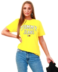 Tommy Jeans Star Fruit Yellow Organic Cotton Boyfriend Fit Collegiate T-Shirt