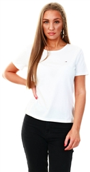 White Organic Cotton Slim Fit T-Shirt by Tommy Jeans