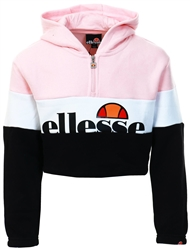 Ellesse Pink Junior Mercina Cropped Hoody