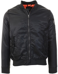 Brave Soul Black Bomber Zip Up Jacket