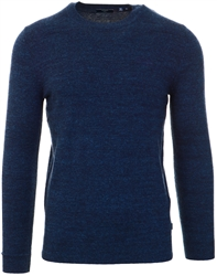 Superdry Nightwatch Navy Grit Orange Label Crew Jumper