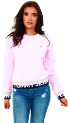 Tommy Jeans Romantic Pink Repeat Logo Relaxed Fit Sweatshirt