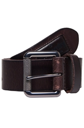 Superdry Dark Brown Badgeman Belt