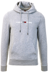 Tommy Jeans Lt Grey Heather Fleece Logo Hoody