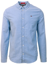 Tommy Jeans Perfume Blue Slim Stretch Oxford Shirt