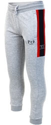 Grey/Samba Red Ajtura Joggers by Pre London