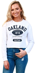 Brave Soul White Oakland Print Sweater