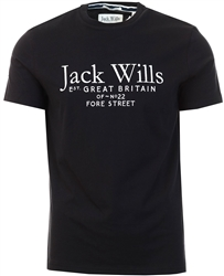 Jack Wills Black Carnaby Logo T-Shirt