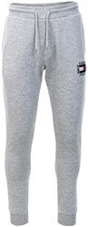 Tommy Jeans Light Grey Heather Slim Box Flag Sweat Pant