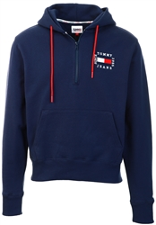Twilight Navy Zip Overhead Hoodie by Tommy Jeans