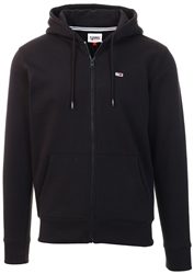Tommy Jeans Black Zip Through Hoodie