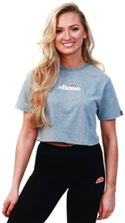 Ellesse Grey Marl Fireball Cropped Tee