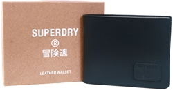 Superdry Black Card Holder Wallet
