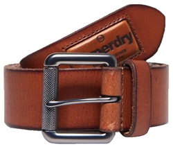 Superdry Tan Badgeman Belt