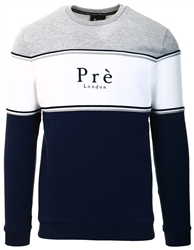 Pre London Grey/White/Blue College Sweat