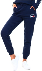 Tommy Jeans Twilight Navy Slim Box Flag Sweat Pant