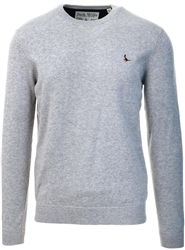 Jack Wills Grey Marl Seabourne Cotton Crew Neck Jumper